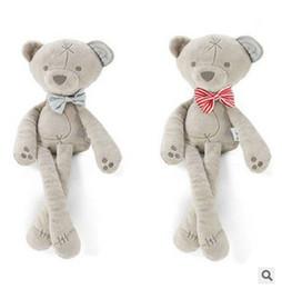 Argentina 2019 hot ins gratis viento británico lindo oso lindo felpa entre padres e hijos juguete muñeca juguete de felpa regalo dormir los pies cómodos se pueden doblar Suministro