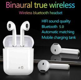 aggiornamento del bluetooth Sconti Aggiornato I7s Plus Bluetooth 5.0 Auricolari Wireless In-ear Mini Auricolari Cuffie stereo bluetooth con scatola di ricarica Mic per smartphone