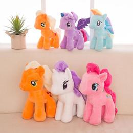 25 cm Cartoon Unicorn Peluche Doll Kids Rainbow Little Horses Peluche Peluche Unicorn Doll Party Favor 6 Colori EEA489 da auto selvagge fornitori