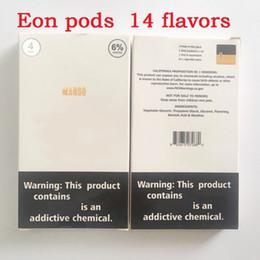 Cig packs on-line-E-cig eon pods 1ml Grande capacidade 6mg Mango Lush Ice sabores sem vazar 4 Pod cada um Packs vs ziip pod e brisa pods