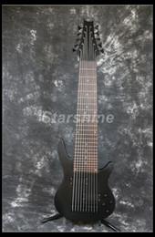 Canada Starshine 10 Cordes Basse Électrique YL-10BB Mat Métal Noir Noir Matériel Pont Fixe cheap electric bass guitar bridge Offre