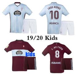 Melhor qualidade 19 20 Celta Vigo kits de camisas de futebol criança 2019 Celta de Vigo BONGONDA HERNANDEZ NOLITO casa crianças camisas de futebol de Fornecedores de jaqueta de ozil