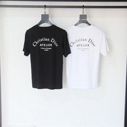 ropa europa Rebajas 19ss dior paris Europa Atelier Imprimir Carta Camiseta Moda Hombre Camisetas Casual Hombres mujeres Ropa Algodón Tee tops d8