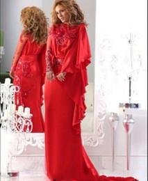 2019 vestidos de noite de alta costura 2019 New Modest Jajja Couture Vestidos de Noite Chiffon Pescoço Chiffon / Lace com Bead Varredura Trem de Manga Longa Vestido de Baile Vestidos De Festa vestidos de noite de alta costura barato