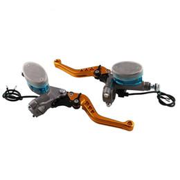 Leviers d'embrayage de frein pour honda en Ligne-1 paire de freins de moto universels embrayage hydraulique réservoir levier 22mm maître cylindre pour yamaha suzuki honda