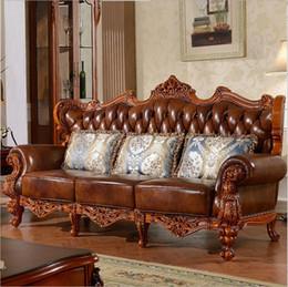 Натуральная кожа гостиной онлайн-Модные современные Горячие Продажи нового прибытия Диван Французский Дизайн натуральная кожа мебель для гостиной Диван 1 + 2 + 3 o1034