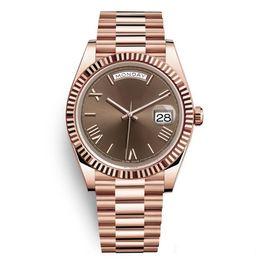 Mens relógios automáticos de luxo on-line-20 cores DAYDATE Rose Gold Assista Mens Mulheres de Luxo Assista Day-Date Presidente Automático Designer Relógios Mecânica Roma Dial relógio de Pulso