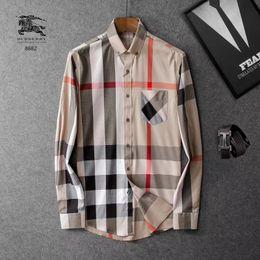 padrões da camisa da luva dos homens longos Desconto Atacado 2017 New Arrival Outono Royal Flower Pattern Listrado Design de Moda de Alta Qualidade Magro Dos Homens Casuais Camisa Longa-luva Venda Quente