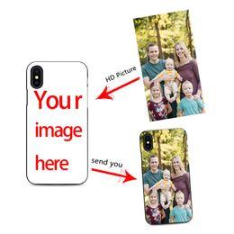 Coperture del telefono delle cellule diy online-Custodia per cellulare personalizzata fai da te per iPhone X XR 6 7 8 plus 6s crea cover per telefono con foto migliori cover nera