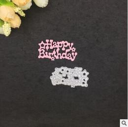 2019 fare la carta Happy Birthday Invitation Card Metallo Taglio Muore per Album di Scrapbooking Carta di nozze Fare carta Goffratura cartella Carta di carta Die Cuts fare la carta economici