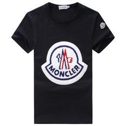 2019 rihanna make-up Neue Mode Sport T-Shirt für Männer Sommer O Hals Kurzarm Herren Designer T Shirts bestickt Baumwolle T-Shirts Männer