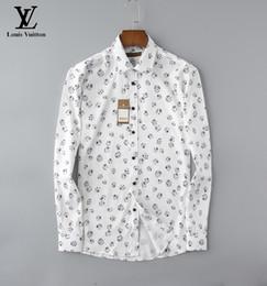2019 camisa preta gravata branca Homens de Moda de Nova shirt Marca longos da luva Para Camisas Casual Men Slim Fit Camisas Moda Casual Harajuku Medusa luxuosas dos homens