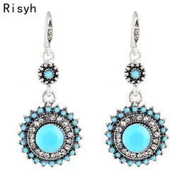 2019 vestidos étnicos nuevos Risyh New retro bohemio étnico sol flor aretes ropa de vestir accesorios de regalo para las mujeres vestidos étnicos nuevos baratos