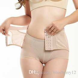 711d2f0767 Women Sexy Panties Abdomen Firming Body Trousers Lifting Hip Shape  Breathable Underwear High Waist Row Buckle Corsets Lady Pants