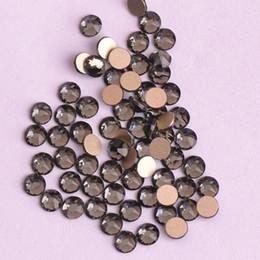 Sapatas douradas do diamante on-line-Zziell Novo 2088 Cut 16 facetas 8 + 8 Black Diamond Strass Base de Ouro Nonhotfix A melhor qualidade da arte do prego para o caso de telefone sapatos