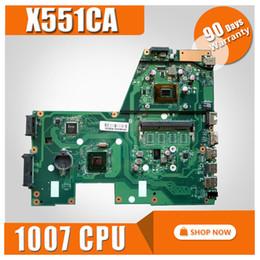 placas base de fru Rebajas X551CA placa base 1007u CPU REV 2.2 para ASUS X551CAP X551CA X551C placa madre placa base para portátil