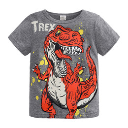 toddler girl christmas shirts Coupons - Dinosaur Clothes Summer Short Sleeve T-shirts for Children Toddler Baby Boys Girls Three Colors Tops Tees Kids Clothing T Shirts Wholesale