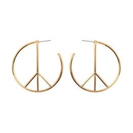 Européens et américains populaires boucles d'oreilles personnalité féminine cercle géométrique alliage oreille ongles oreille ornements ? partir de fabricateur