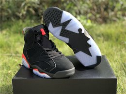 f28f8bbd6d40 2019 Authentic Air 6 Black Infrared Men Basketball Shoes 3M Reflective 6s  Black Red Sports Sneakers With Original Box 384664-060