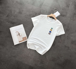 T-shirt Femme Joker Simple À Manches Courtes Nouveau Coffre T-Shirt Brodé Petits Animaux Tissu Peau Douce Manche Courte ? partir de fabricateur
