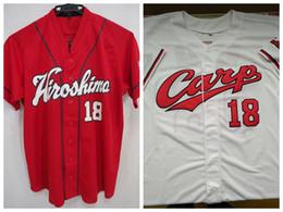 nueva jersey gratis Rebajas Custom Kenta Maeda Hiroshima Carp White Red Japan Baseball Jersey Stitch Cosido Nuevo Gris Cualquier nombre Cualquier número Envío gratis