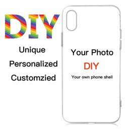 Design personalizado Logotipo DIY / Foto Hard Phone Case Para 5 5S SE 6 6 S 7 Plus Personalizado Impresso Tampa Traseira de
