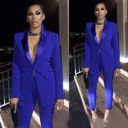 2019 plus größe jäger orange outfit Königsblau Mutter der Braut Kleider Damen Party Anzüge Blazer Hose Formelle Büroarbeit Sexy Smoking