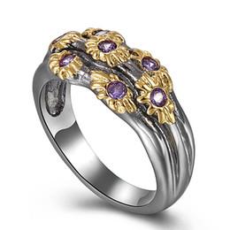 2019 gold ringe besten design Best Buy Eleganter Schmuck Ring mit Multi bunten Stein Schwarz Gold-Farbe Fashion Unique Design Party Anniversary Gift Ring günstig gold ringe besten design