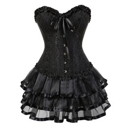 cabe76f3e1 caudatus corset skirts tutu for women party bustier overbust corset dress  costume floral plus size lady fashion sexy corselet