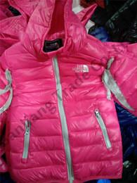 jaqueta de esporte para meninas Desconto Crianças júnior NF Esportes Outwear Inverno Design de Marca O Norte Menino Meninas Pato Pad Down Jacket Inverno Quente Com Capuz Jaqueta Rosto Casaco Ao Ar Livre C8802