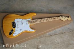 2019 fare chitarre Spedizione gratuita Stratocaster nuovo arrivo realizzato in USA 6 corde in legno naturale Chitarra elettrica !! fare chitarre economici