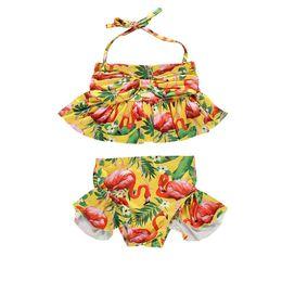 0ae70d89b 2019 new flamingo kids swimwear cute Girls Swimsuit girls Bikini Two-piece  Swim Suits Kids Bathing Suits Child Sets Beachwear A5044 discount new  children ...