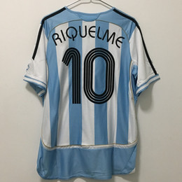 марадона джерси аргентина Скидка DIEGO MARADONA ARGENTINA TEVEZ MESSI RIQUELME CRESPO футболка из качественного футбольного майки с надписью thailand camiseta футбол футбол майо де фут