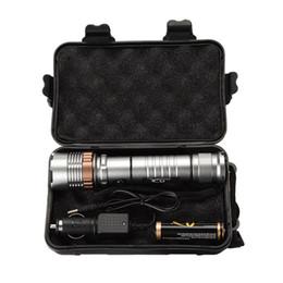 Caja de batería de la antorcha led online-Ekaiou TAC-1 3800 lúmenes Zoom Ajustable XM-L T6 LED 18650 Linternas Antorcha 1x18650 Batería + Cargador Cajas de regalo