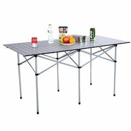 """Aluminium-tisch tisch online-55 """"Roll Up Portable Folding Camping Platz Aluminium Picknick-Tisch mit Tasche New E1"""