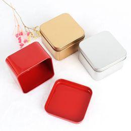 Cajas de dulces de metal de regalo de boda online-2019 quare favor de la boda del té caja del caramelo de estañ Misceláneas del cable del auricular del organizador del envase Recibir caso caja de regalo
