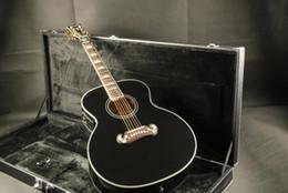chitarra di fabbrica Corpo oco J200 fisnman eq acústico guitarra elétrica preta Guitarra Qualidade Garantida Frete grátis da mouse elettrico fornitori