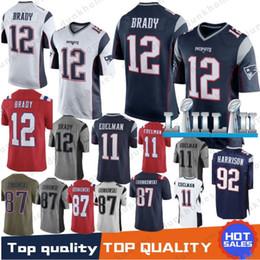 abe617bdd Best New 12 Tom Brady Patriots Jersey 11 Julian Edelman men 80 Danny  Amendola 14 Brandin Cooks 92 Harrison 87 Rob Gronkowski 2019 jerseys  gronkowski jersey ...