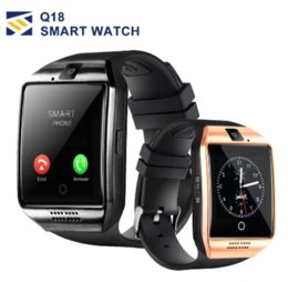 kids smart watch phone Coupons - Q18 smart watch Bluetooth Smartwatch Wristband with Camera Original q18 Support TF SIM Card Slo for android phones