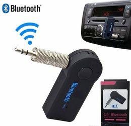 2019 pontos de áudio Sem fio AUX receptor Bluetooth para carro Fone de ouvido Alto-falante 3,5 milímetros Bluetooth Áudio Música adaptador de Jack com qualidade Mic Retail Packagehigh