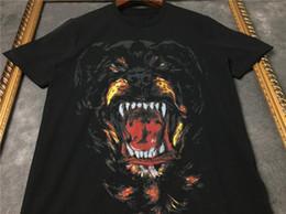 etichetta nera rosa Sconti Più nuovo Modo Caldo Estate Uomo Donna T Shirt Manica Corta 3D Rottweiler Stampa Designer Casual Tshirt Abbigliamento Moda Hip Hop Top U1652