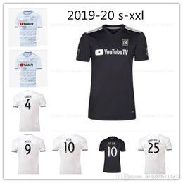 Thai jerseys dhl shipping онлайн-DHL Бесплатная доставка 2018 2019 домой далеко LAFC футбол Jerseys 19/20 Размер S-XXL тайское качество Лос-Анджелес ФК Размер может быть смешанным партия