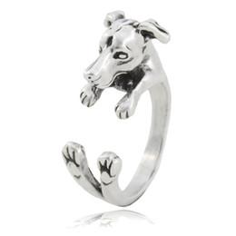 2019 anel de prata criança Vintage Prata Boho Italian Greyhound Dog Ring Para As Mulheres Whippet Animal Casal Meados Anéis De Dedo Para As Meninas Crianças Baby Dog Amante Presente desconto anel de prata criança