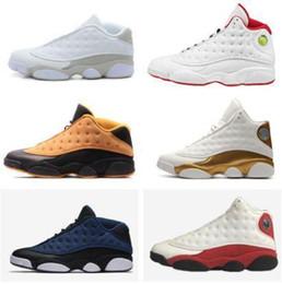 timeless design 9a363 6f313 Nike Air Jordan Retro 13s 13 Basketballschuhe Niedrig Hoch Weiß Rot Chutney  Chicago Reines Geld Dmp Brave Blue Barons Schwarze Katze Männer Frauen ...