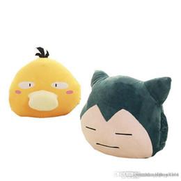 Boneca de pelúcia jigglypuff on-line-33CM Pikachu Snorlax soft Plush Hand warmer pillow Psyduck Jigglypuff pikaqiu Toy for children office Plush Anime Stuffed Doll