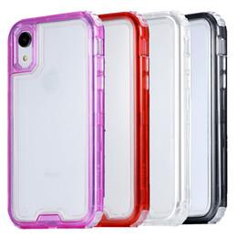 Silicone claro on-line-Phone case para iphone xr claro 3in1 heavy-duty full-body capa de proteção phone case para iphone xr xs max