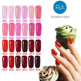Farbiger gelnagellack online-Soak Off Gel Polish Rosa Rot Farben-Reihe Nagel-Kunst-Lack 10ml RAINBOW ABBY