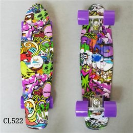 mini tabla larga Rebajas 2017 Mini Cruiser Skateboard Luz LED de cuatro ruedas Skate Board Adultchildren Tablas De Skate Board Loaded Skateboard completo