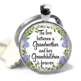 citas de regalos de amor Rebajas El amor entre una abuela y sus nietos es para siempre llavero, regalo para la abuela joyería de la cita de la joyería de la abuela