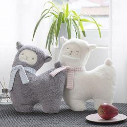 Argentina Nueva gris / blanco oveja peluche de juguete de peluche suave animal de peluche alpaca kawaii niños regalo de cumpleaños muñeca Suministro